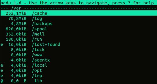 ncdu linux ubuntu