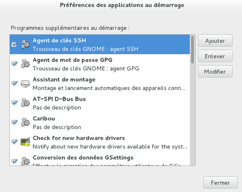 ubuntu application démarrage gnome-shell