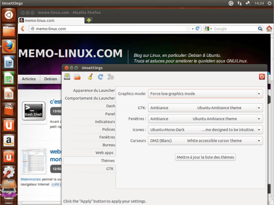 unsettings ubuntu