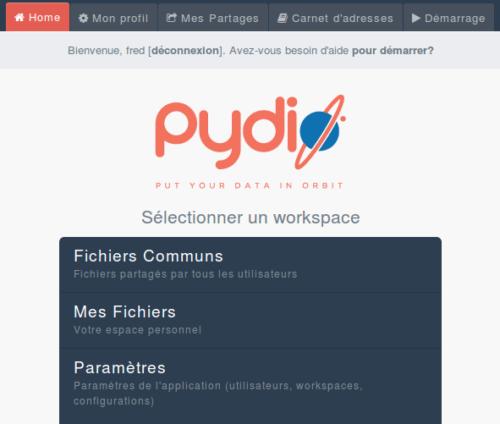 pydio-workspace