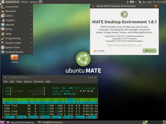 ubuntu installer le bureau mate memo. Black Bedroom Furniture Sets. Home Design Ideas