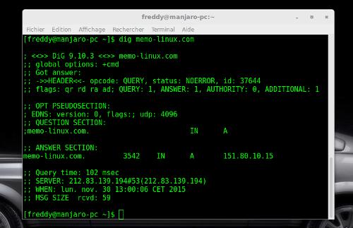dig : outil pour tout savoir sur les resolveurs DNS | memo-linux com