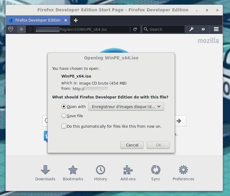 FOG : Ajouter une entrée dans le menu iPXE Boot | memo-linux com