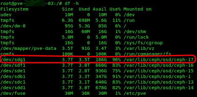 Proxmox : résoudre l'erreur Full OSD d'un cluster Ceph | memo-linux com
