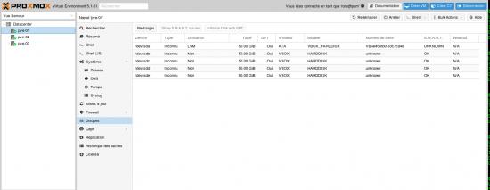 proxmox ceph menu disk